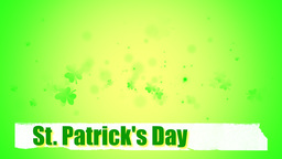 St. Patrick's clover animated background 動畫