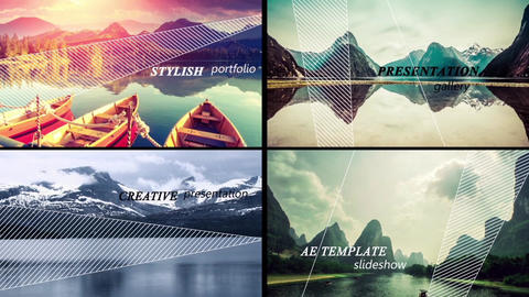 Movement Slideshow After Effects Template