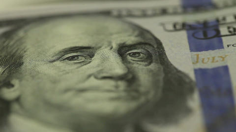 Hundred dollars close-up ビデオ