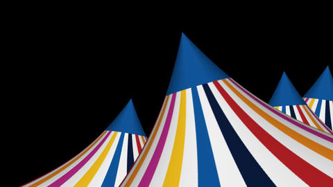 3D Circus Tent Animated Background CG動画素材