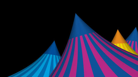 3D Circus Tent Animated Background Animation
