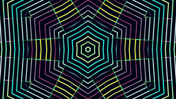 Kaleidoscope Multicolored Led Lights Bars Animation
