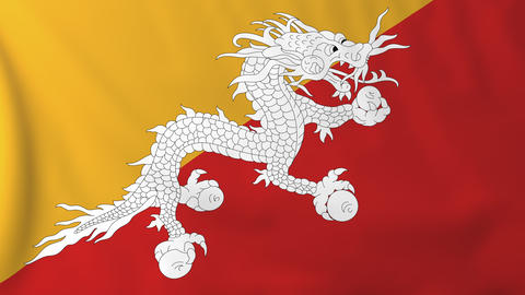 Flag of Bhutan Animation