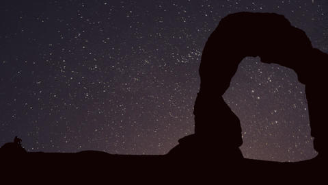 Moab In Starry Night stock footage