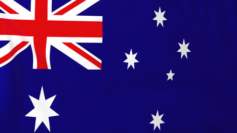 Flag of Australia Animation