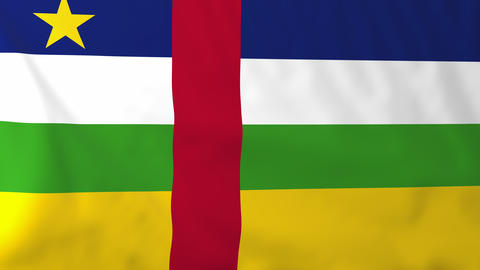 Flag Of Central Afr.Rep stock footage