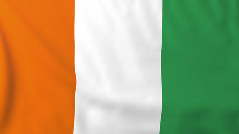 Flag of Ivory Coast Animation