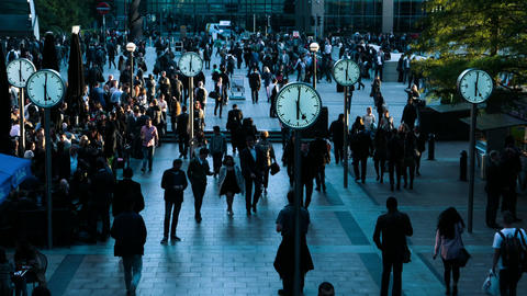 One Hour of Commuting in the Financial District - Reuters Plaza, Canary Wharf, L Footage