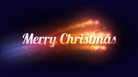 """Colorful Lights reveal """"Merry Christmas"""" Animation"""