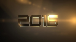 """Flying epic """"2016"""" number Animation"""