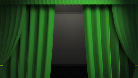 Fancy Green Curtain Animation