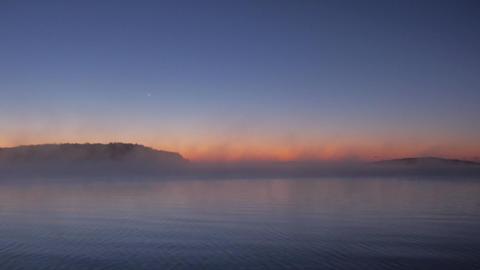 Sunrise sea fog Footage