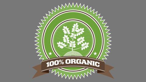 Organic Badge One Animación