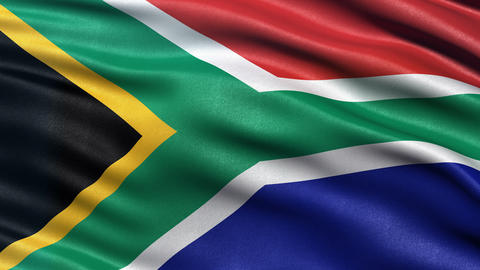 4K South Africa flag seamless loop Ultra-HD Animation