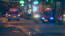 Street Of Kata Beach District stock footage