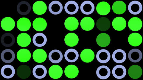 Flashing circles in grey and green Animation