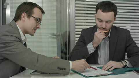 Business people consulting from new project Footage