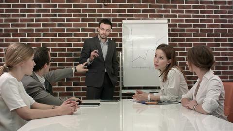 Businessman giving a presentation Footage