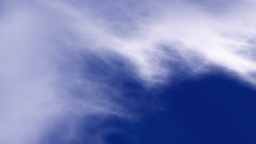 Vertical and Rotational View of Clouds and Blue Sky Footage