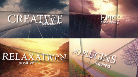 3D Epic Slideshow After Effects Template