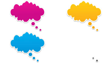 Thinking cartoon Clouds balloons After Effects Template