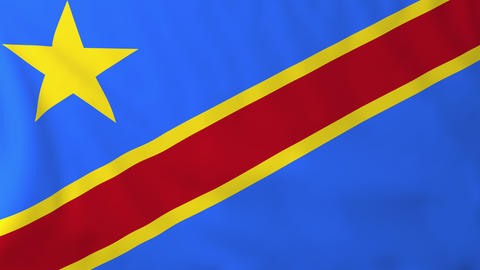 Flag of Democratic republic of Congo Animation