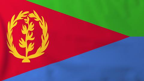 Flag of Eritrea Animation