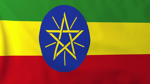 Flag of Ethiopia Animation