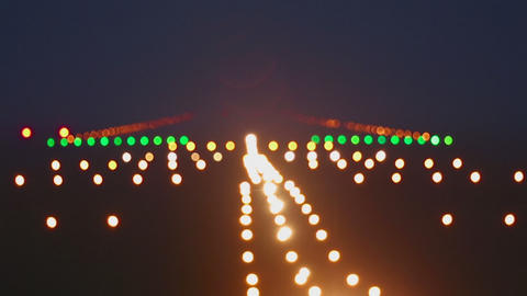 Landing lights runway airport Footage