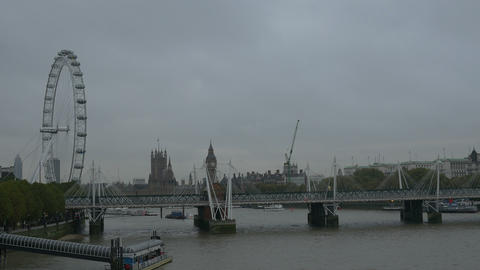 Cloudy Day In London stock footage