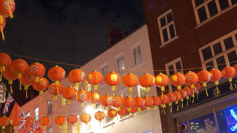 Red Chinese Paper Lanterns Footage