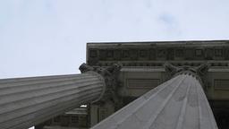 Corinthian Order Building Columns Footage