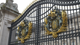 United Kingdom Gilded Coat of Arms Footage