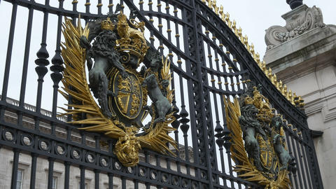 Buckingham Palace Gates Footage