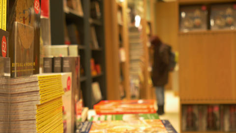 Inside a Bookstore Footage