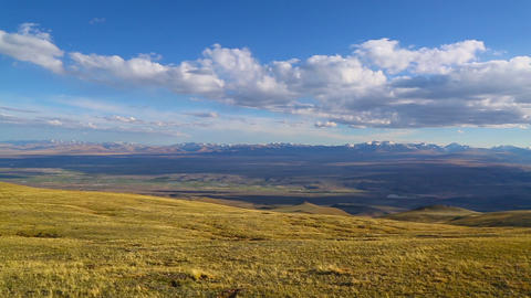 Chuya River Valley landscape, Altai Footage