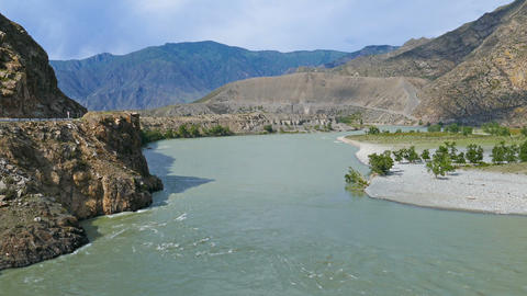 Katun River in Altai mountains, Russia Footage