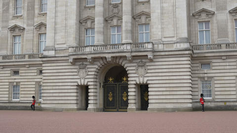 Guards Watch at Buckingham Palace Footage