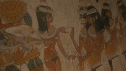 Ancient Egypt Wall Paintings stock footage
