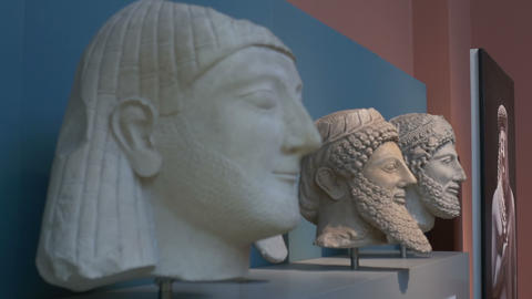 Ancient Mesopotamian Statues Footage