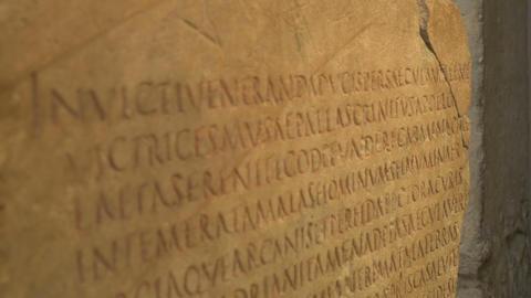 Ancient Language Roman Text Footage