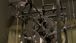 Ancient Cogwheel Mechanism Footage