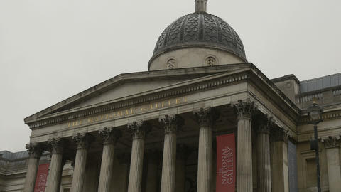 London National Gallery Building Footage