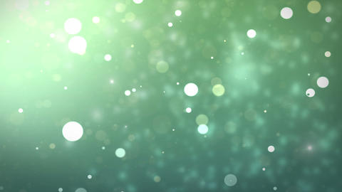 Moving Gloss Particles On Green Background Animation