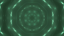 Glitter stars circles on green background Animation