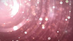Glitter stars circles on red background Animation