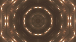 Glitter stars circles on orange background. VJ Loops Animation