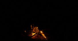 4K Bonfire, Campfire, Fireplace Closeup Footage