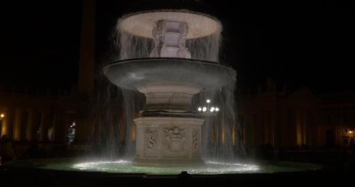 4K, Fontana Di Fiumi, Rome, Vatican, Italy Footage