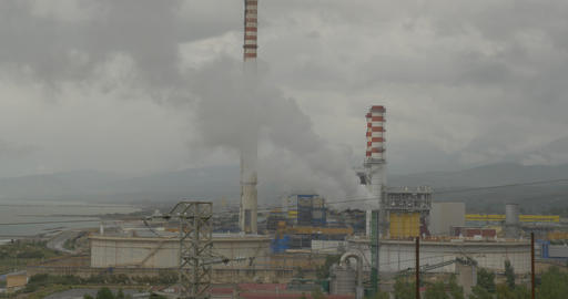 4k, Polluting factory anywhere in Sicily Footage